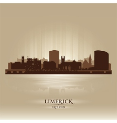 Limerick Ireland skyline city silhouette vector image