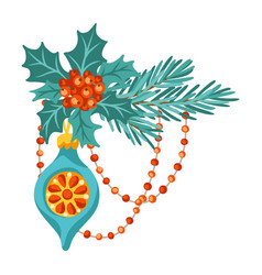 merry christmas decoration design holiday vector image