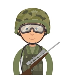 Military soldier cartoon vector
