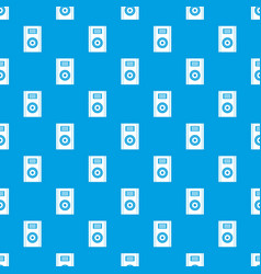 music speaker pattern seamless blue vector image