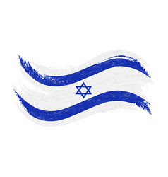 national flag of israel designed using brush vector image