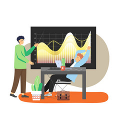 Office scene with modern workplace two business vector