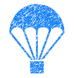 parachute grunge icon vector image