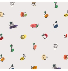 pattern of vegetables vector image