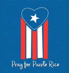 Puerto rican flag with blue area forming a heart vector