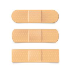 Realistic plaster bandage beige medical band vector