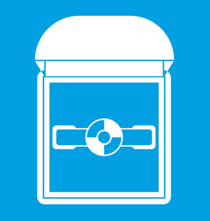 Ring in a velvet box icon white vector
