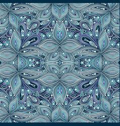 Seamless dotty blue pattern vector