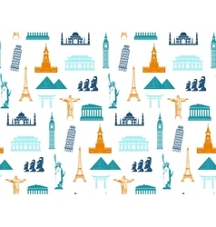 Seamless pattern Travel and tourism concept vector image
