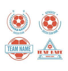 set of football or soccer club logo set vector image