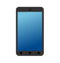 smartphone isolated mobile phone on white vector image