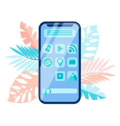 smartphone menu interface gui vector image