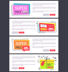 super price -20 collection vector image