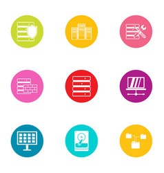 Technical instrument icons set flat style vector