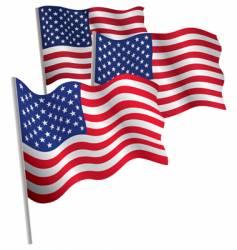 usa 3d flag vector image