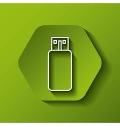 Usb icon Gadget design over hexagon vector image