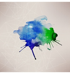 watercolor texture Blue grunge paper template vector image vector image