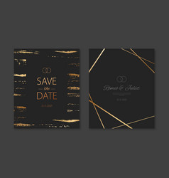 wedding invitation cards with gold vector image