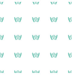 Wings icon pattern seamless white background vector