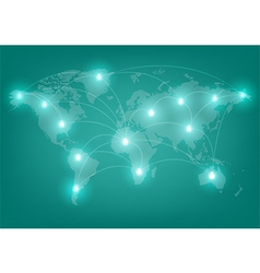 world network communication vector image