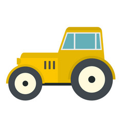 yellow tractor icon isolated vector image