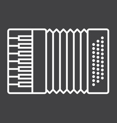 accordion line icon music and instrument vector image vector image