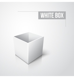 Empty white box with shadow and reflection vector image