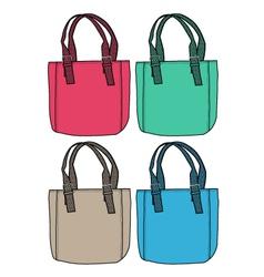 fashion bag design vector image vector image