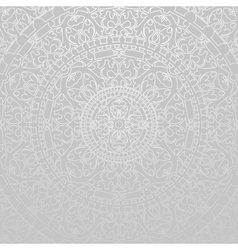 gray background with oriental decorations vector image