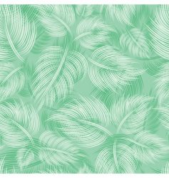 seamless pattern with green leaf vector image vector image