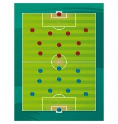 soccer team tactics field vector image vector image