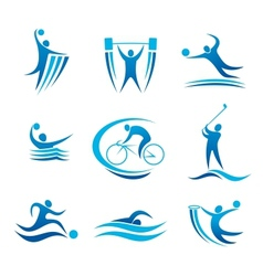 Sport symbols and pictograms vector image