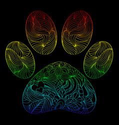 abstract animal paw print vector image