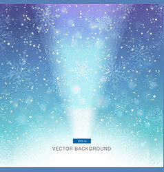 Falling snow on the blue and purple background vector