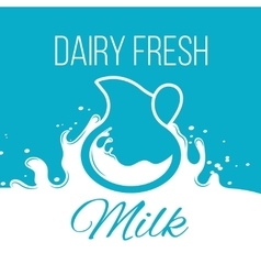 Natural organic milk concept background for vector image