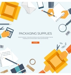 Packaging supplies Delivery vector image vector image