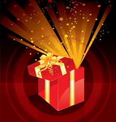present magic vector image