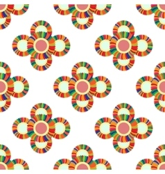 Seamless geometric pattern flowers vector image