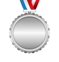 Silver Medal vector image vector image