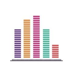 statistics graphic chart vector image