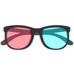 3d glasses with chromatic aberration vector image