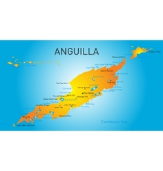 Anguilla territory vector image