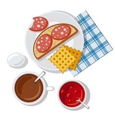 breakfast vector image vector image