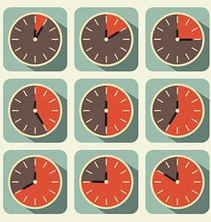 Clock - Time Countdown Set vector image vector image
