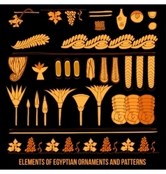 Elements of Egyptian ornaments vector image vector image