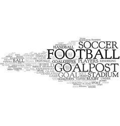 goalpost word cloud concept vector image