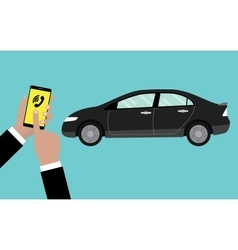 call or reserve online car service by using vector image vector image