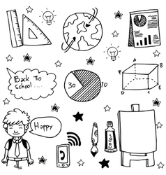 Doodle of hand draw school education vector image