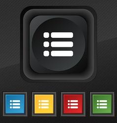 List menu content view options icon symbol set of vector