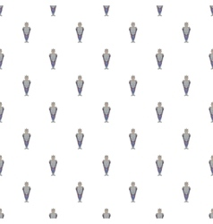 Medieval knight pattern cartoon style vector image